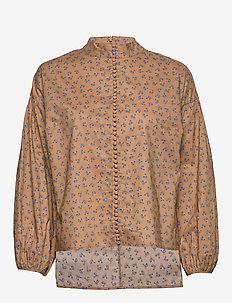 Merle shirt - long sleeved blouses - snowdrop khaki
