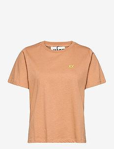Aijan tee - t-shirt & tops - latte