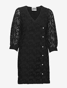 Avador wrap dress - spetsklänningar - black