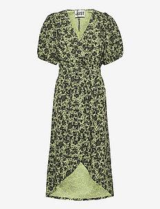 Alicia dress - midi jurken - tropical sap green