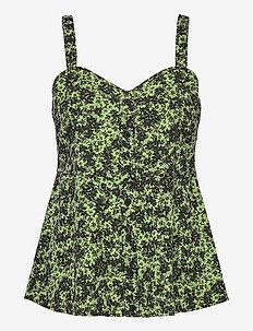 Alicia top - sleeveless blouses - tropical sap green