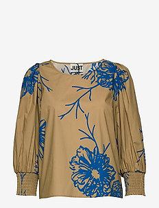 Marty blouse - blouses à manches longues - flora grande aop