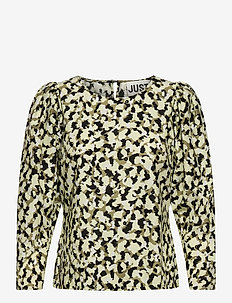 Nellie blouse - long sleeved blouses - blurred camo aop
