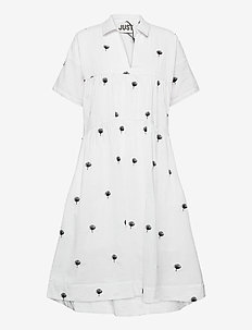 Freja dress - robes midi - off white