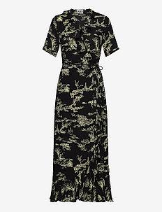 Mako maxi wrap dress - maxiklänningar - garden aop