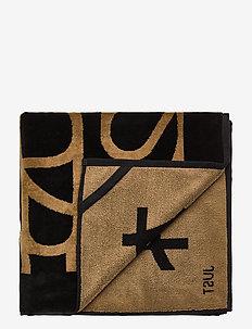 Justine towel - beach towels - black brown combi