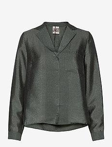 Mae shirt - long sleeved blouses - balsam green