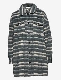 Gail jacket - wool jackets - balsam check