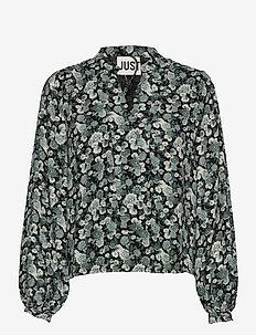 Effie blouse - blouses à manches longues - blue flower aop