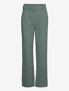 Bonnie trousers - wide leg trousers - balsam green