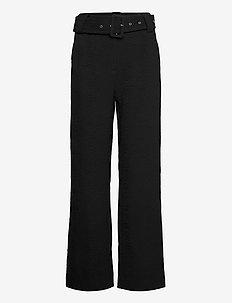 Bonnie trousers - wide leg trousers - black