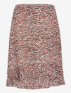 Virginia skirt - midi skjørt - sketchy ikat aop