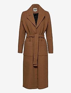 Leola coat - wool coats - walnut