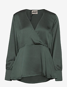 Minnie blouse - long sleeved blouses - balsam green