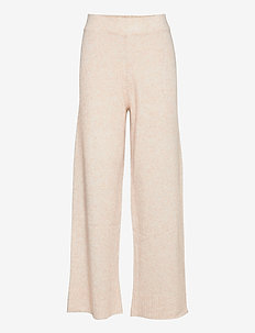 Unite knit trousers - vide bukser - off white