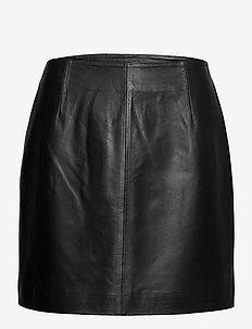 Moon leather skirt - short skirts - black