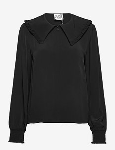 Lima blouse - long sleeved blouses - black