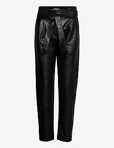 Nago leather trousers - leather trousers - black
