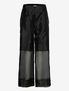 Cologne trousers - wide leg trousers - black