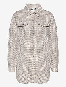 Metz shirt - overshirts - ice grey stone mix