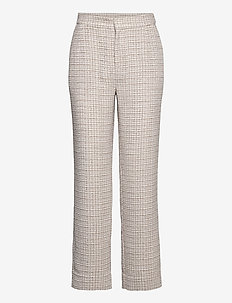 Metz trousers - straight leg trousers - ice grey stone mix