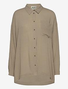 Brooklyn shirt - langærmede skjorter - cobblestone
