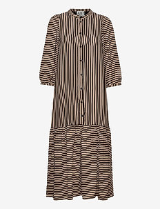 Colorado maxi dress - vardagsklänningar - cobblestone stripe