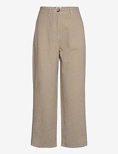 Cayenne trousers - bukser med brede ben - cobblestone