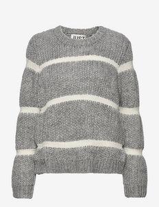 Roma knit - jumpers - grey melange
