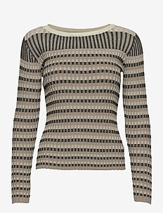Lazio knit - knitted tops - nature stripe