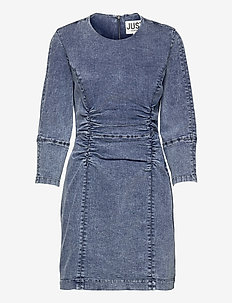 Glacier denim dress - bodycon dresses - blue snow