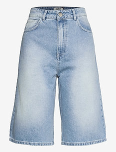 Bay bermuda 0101 - denim shorts - light waterblue