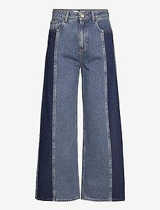 Calm jeans mix 0104 - brede jeans - middle blue mix