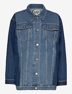 Thunder jacket 0104 - denim jackets - middle blue mix