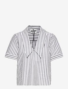 Rialto blouse - short-sleeved blouses - pavement stripe