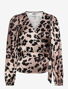 Laguna blouse - long sleeved blouses - leopard