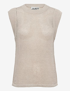 Omaha knit top - knitted vests - off white