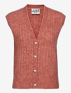 Lytt knit vest - gebreide vesten - ginger spice
