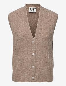 Lytt knit vest - knitted vests - taupe