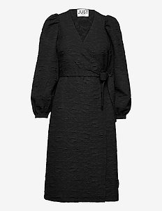Toda wrap dress - everyday dresses - black