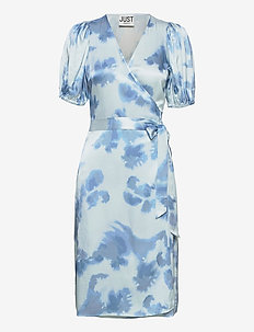 Laguni wrap dress - summer dresses - silver lake blue