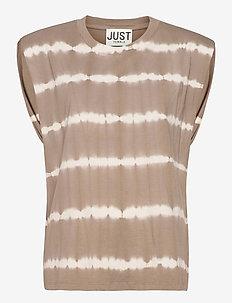 Beijing top tiedye - t-shirt & tops - taupe
