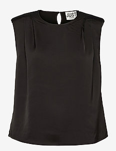 Clear top - sleeveless blouses - black