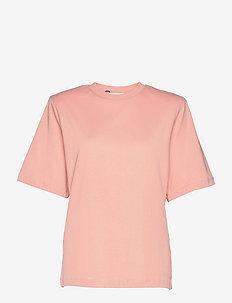 Becker tee - t-shirt & tops - misty rose