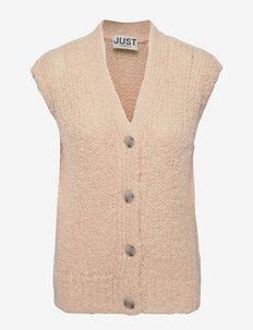 Erida knit vest - knitted vests - buttercream