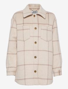 Luna shirt jacket - wool jackets - buttercream