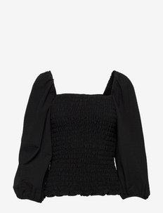 Asla blouse - long sleeved blouses - black