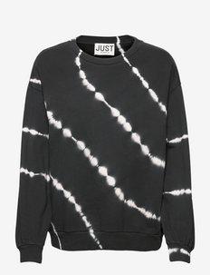 Drake sweat tiedye - sweatshirts & hoodies - black td