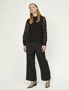 Maximo trousers - spodnie szerokie - black