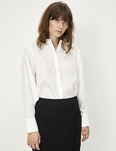 Linneda shirt - dugim rękawem - white
